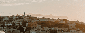 View of the northern West Bank in the Palestinian Territories