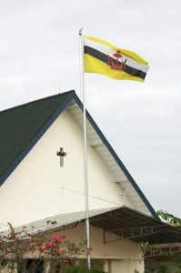 Photo of a Church in Brunei, a country with Christian Persecution.