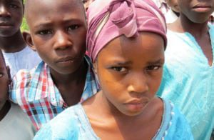 Photo of Nigerian children suffering from Christian Persecution.