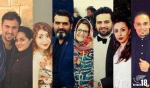 Christian converts arrested in Bushehr (l-r): Sam Khosravi, 36, and his wife, Maryam Falahi, 35; Sam's brother, Sasan, 35, and his wife Marjan Falahi, 33; Sam and Sasan's mother, Khatoon Fatolahzadeh, 61, released the same day; Pooriya Peyma, 27, and his wife, Fatemeh Talebi, 27; and Habib Heydari, 38.