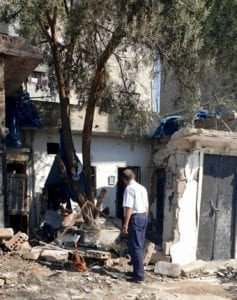 Pastor George visits a bombed out house in Syria