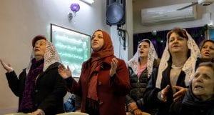 Nisreen in church in Syria
