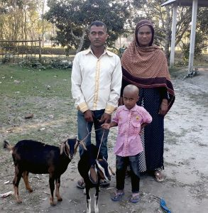 A Bangladeshi family helped with emergency relief