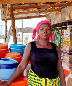 A Nigerian widow who received financial aid