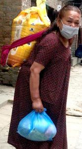 a Christian in Nepal helped with COVID-19 aid